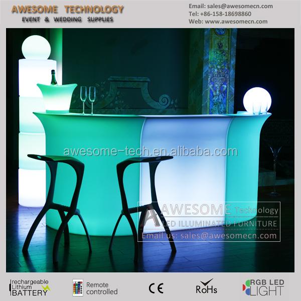 Exclusive modular led bar counter / illuminated mobile bar / lighted bar furniture