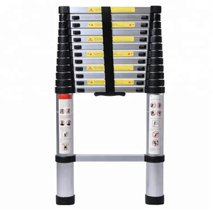 2.0-5.0m Aluminum Retractable Ladder Multi-functional Folding Single Telescopic Step Ladder