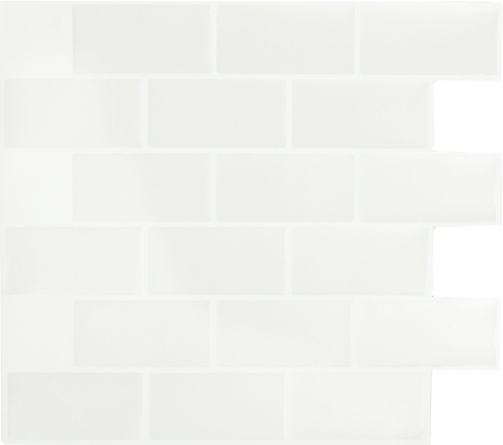 White Marble Diy 3d Peel And Stick Self Adhesive Glossy Wall Tiles ...