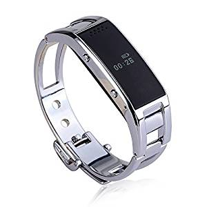 Esscoe best gift for lover or family ,Smart Watch Smartband Fashion Bracelet with Sync Phone Call / Pedometer/ Anti-lost Smart Wrist Wrap Watch Phone Smart Bracelet Bluetooth Wrist Watch Phone for iOS Android iPhone Samsung Support Caller ID, Health Pedometer Bluetooth Sync Smart Watch Phone