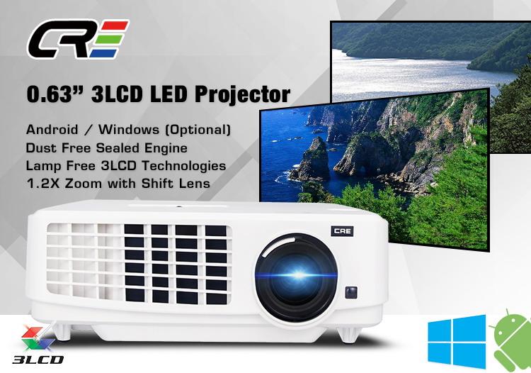Full hd 1080 p 3lcd dati mostrano led wifi proiettore 3000 lumen