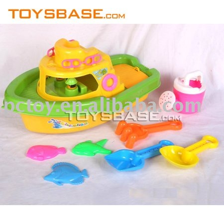 Summer beach toy kids boat snad play set