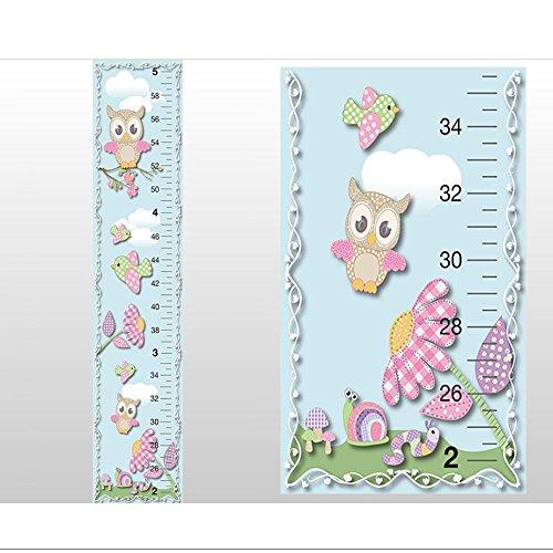Buy Growth Chart Owl Bird Snail Worm Mushrooms Flower Wall Decals