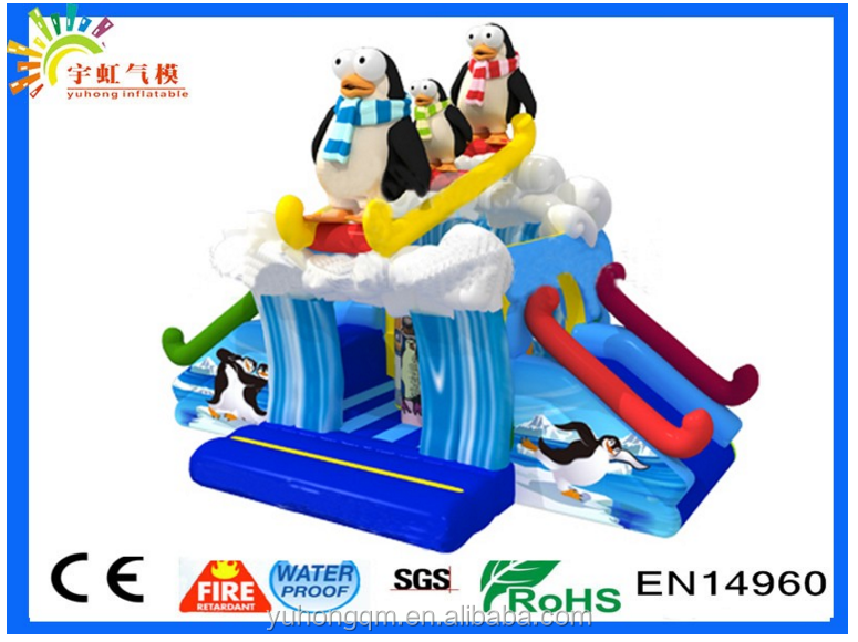 Bule color animal bounce house hot inflatable bouncy castle with water slide