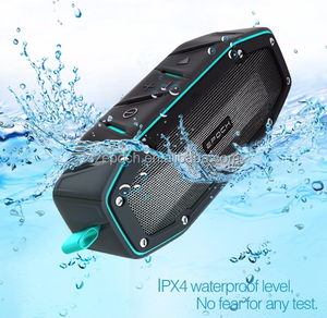 New best Ipx6 bluetooth 4.1 outdoor private mold water shower speaker for camping and travelling