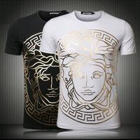 Yiwu Market Custom Golden Printed Men's T shirts