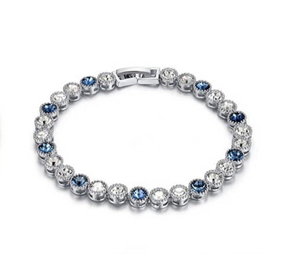 Varanda Swarovski Elements Crystal Bracelet (blue)
