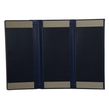 tri fold menu book cover personalized menu covers 3 panels leather
