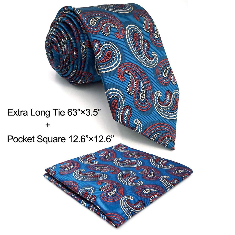 99bcf5a52030 Buy Shlax&Wing Blue Paisley Geometric Neckties Mens Tie Silk ...