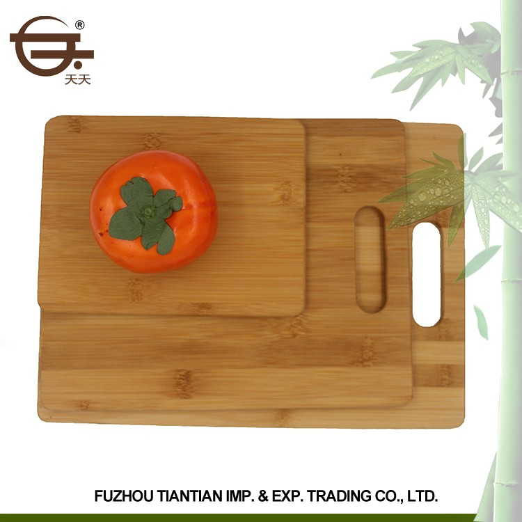 High Quality Vegetable Bamboo Square Custom 3 Piece the chopping board