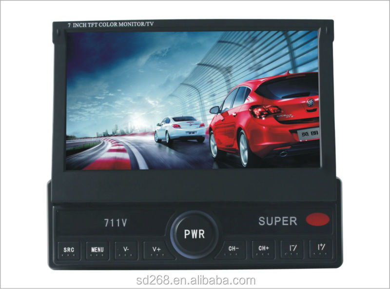 in car lcd monitor in dash 2 din for Jeep Compass with GPS, BT, iPOD, RDS,TV Functions