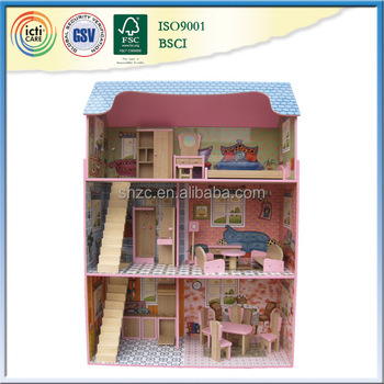 Russian Prefabricated House Wooden Big Barbie Doll House Buy