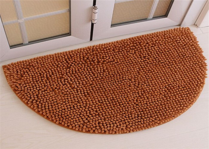 chenille floor mat with long pile chenille floormat