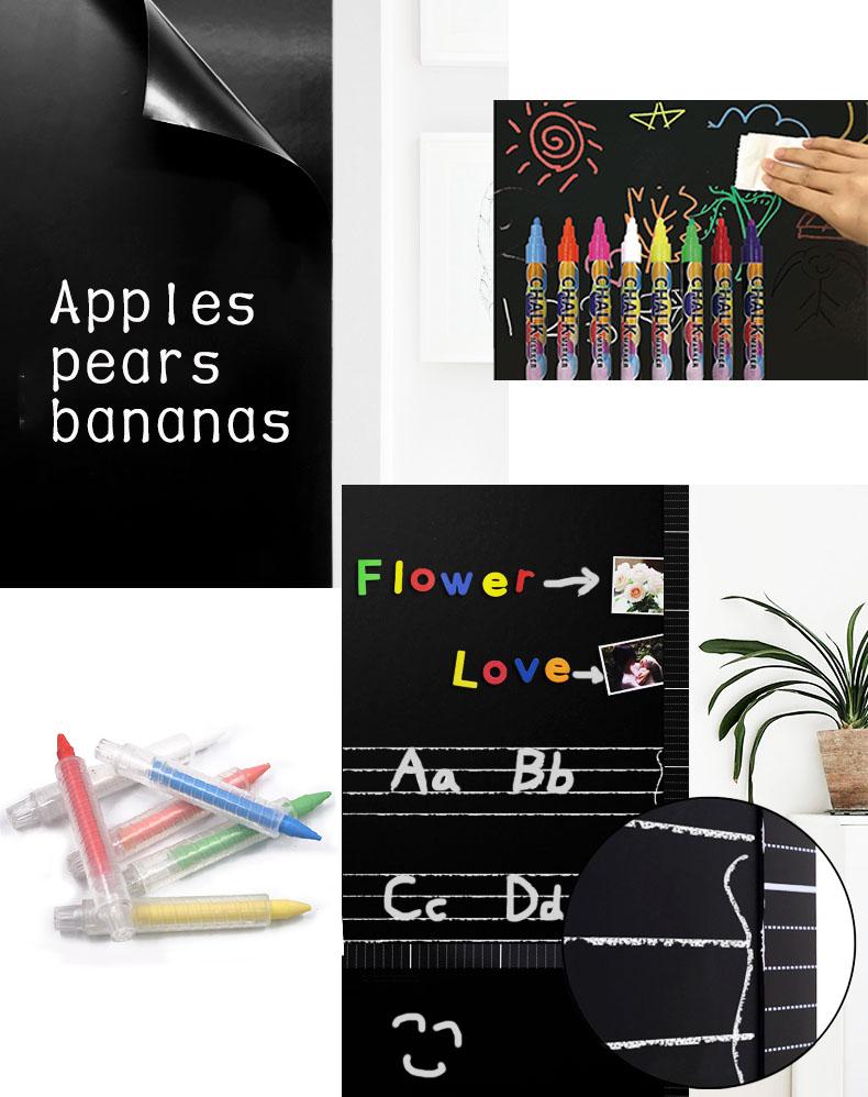 Benutzerdefinierte Tier geformte magnetische Tafel Dekorationen Black Board lernen Aufkleber mit nass löschen Tafel Marker und Radiergummi