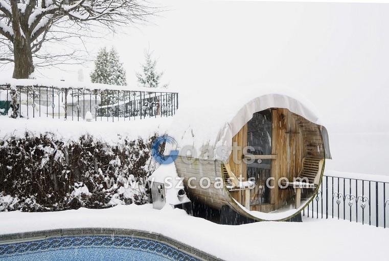 Luxury Outdoor Houses Garden Cedar Barrel Sauna room