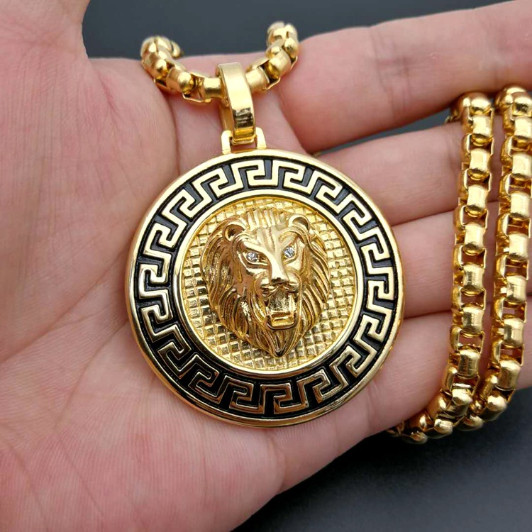 Alibaba.com / Wholesale Gold Head Lion Men Stainless Steel Necklace