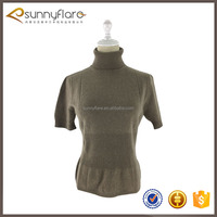 New fashion wool short sleeve cashmere sweater for women