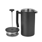 1000ml matte black french press coffee & tea maker stainless steel coffee French press for Travel Camping Brewer Pot