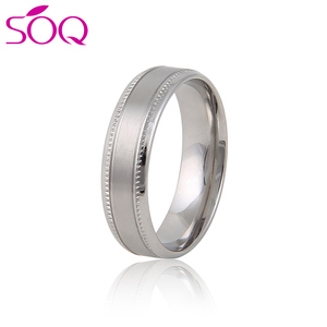 Popular Stainless Steel High polish finish jewelry fashion Ring Blanks For Men