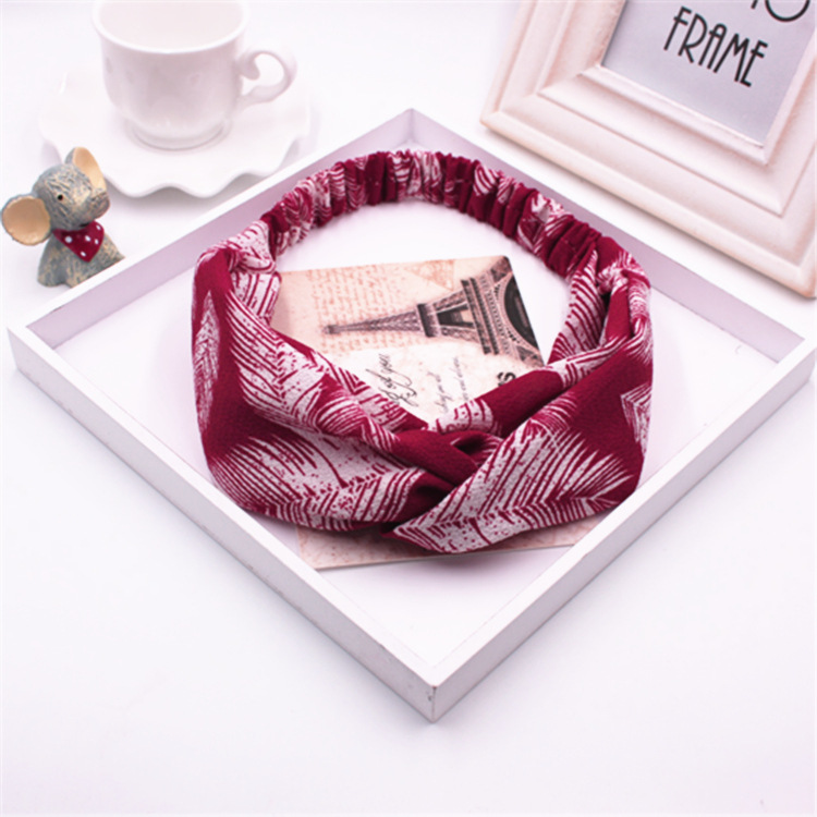 2017 new trendy leaf print festival holiday party gift women fashion headband