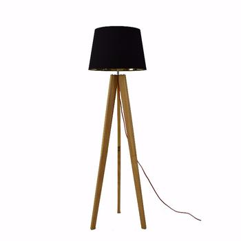 Led Wood Tripod Floor Standing Lighting