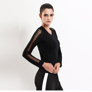 Private Label Wholesale Sexy Long Sleeve yoga vest for Running