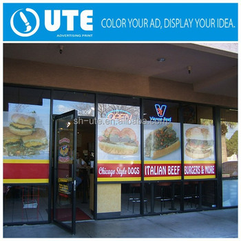 Shop glass door promotion removable sticker window vinyl sticker printing