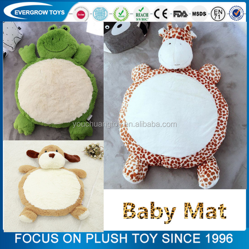 plush animal shaped eco friendly baby play gym mat