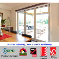 coastal area upvc 3 panel glass folding doors