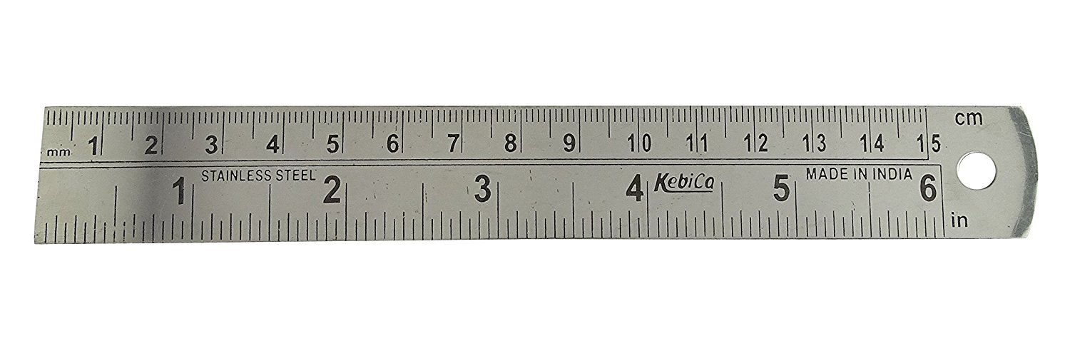 Buy Stainless Steel Ruler 6 Inch Measuring Scale School Supply Stationery Accessory In Cheap Price On Alibaba Com