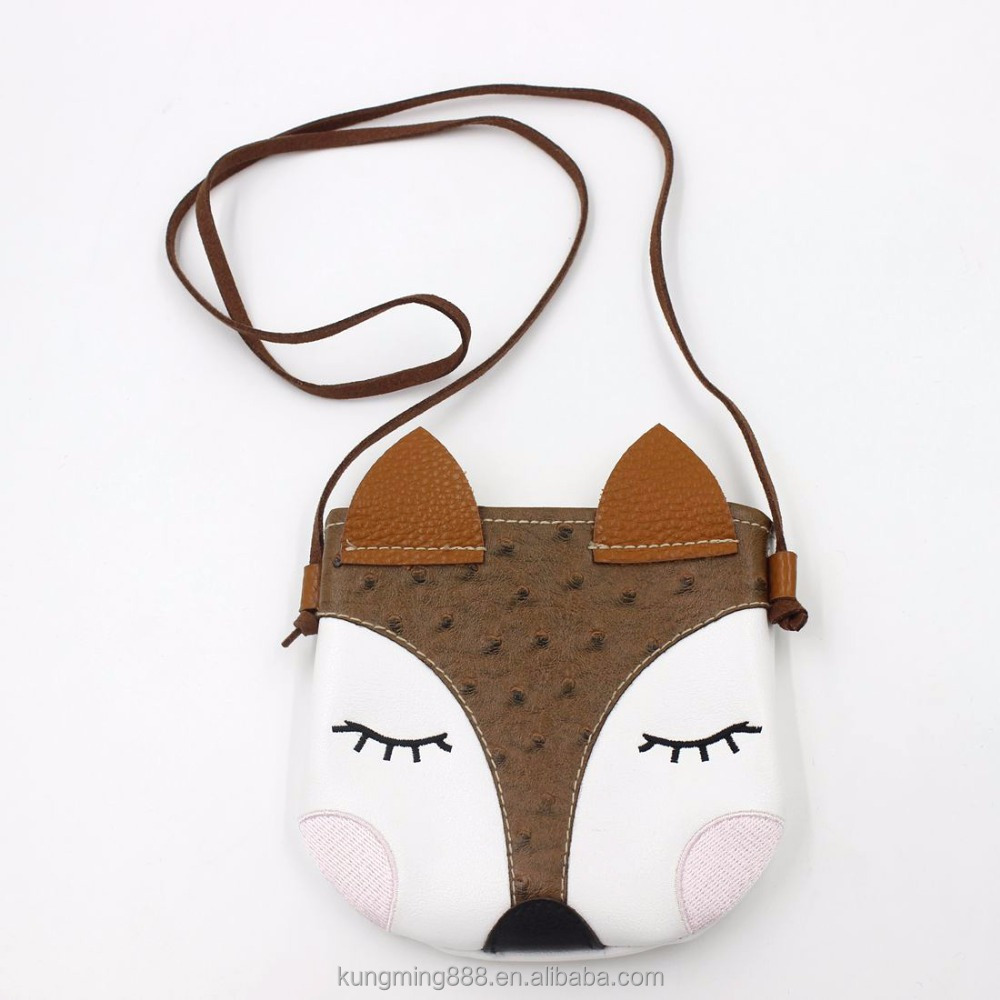 Kids Jewelry Girls Cute Fox Shoulder Bag Nonwoven Children Cross Body Sling Bag