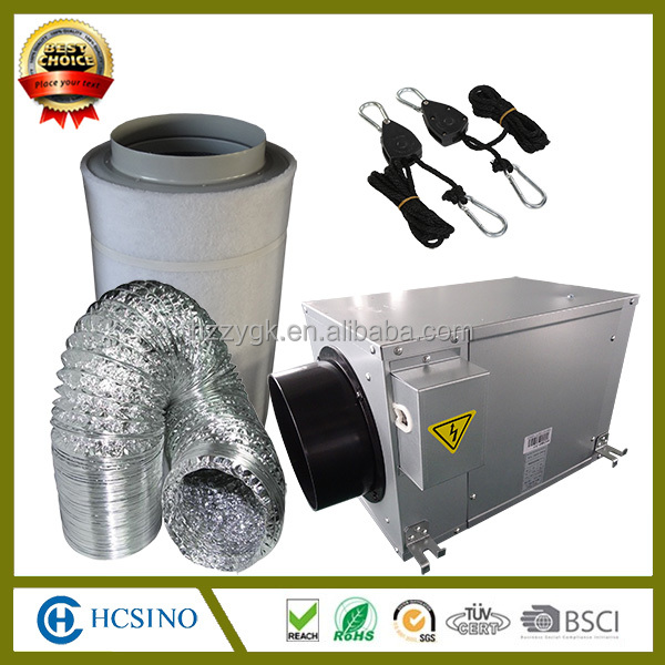 HEPA activated carbon air purifiers filter, industrial centrifugal fan, flexible ducting
