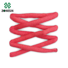 Oval athletic shoelaces custom color round shoelace