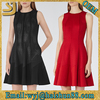 Wholesale latest new style lady cocktail sleeveless o-neck party flare dress