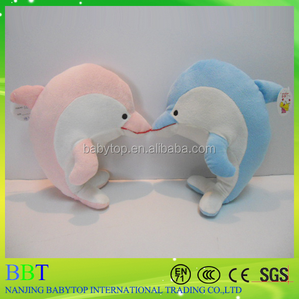 Wholesale soft stuffed sea creature toy christmas plush fish toy plush dolphin