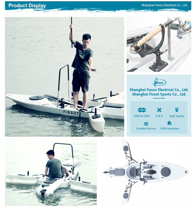 Professional China cheap plastic sea fishing canoe jet powered kayak for sale