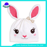 Design your own rabbit 100% wool knitted beanie hat lovely hand knitted baby hat for sale