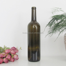 HOT SALE prices 750ml red wine bottle/wholesale bordeaux glass bottle empty wine glass bottle/bottle of red wine