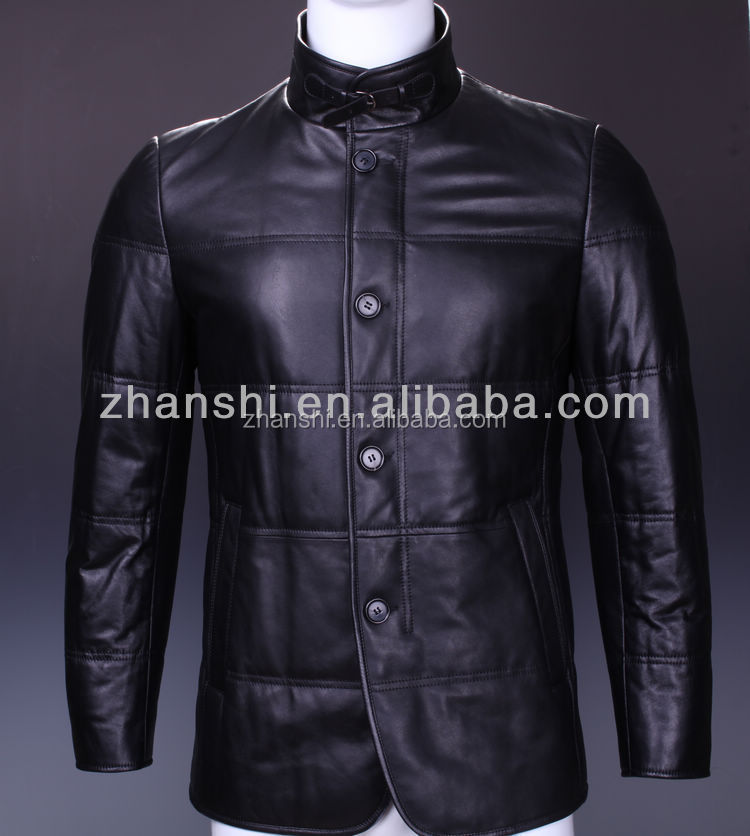 Russian style clothing sheep leather jackets for men