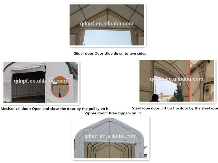 Dôme abri de conteneur avec adapté aux besoins du client couvre