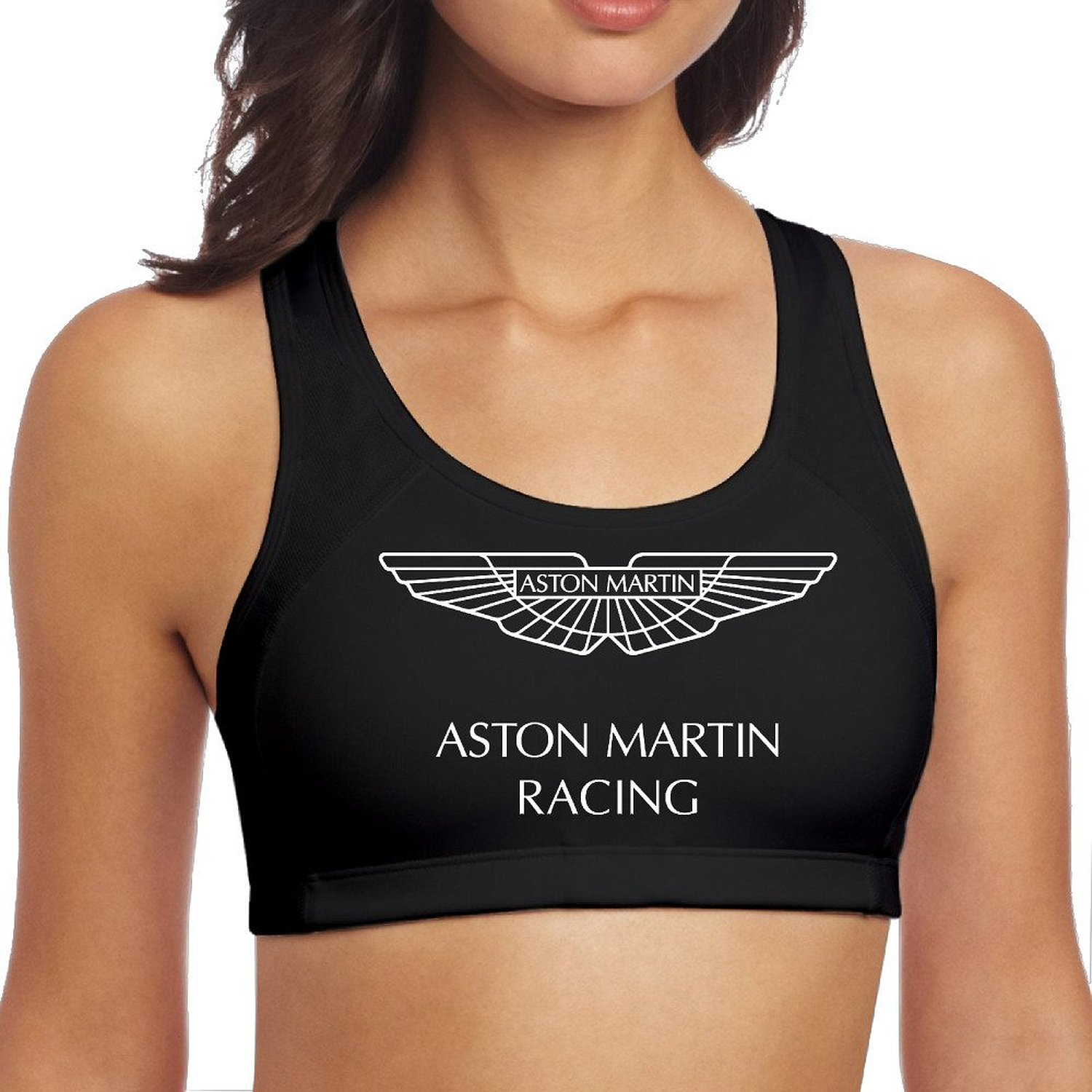 Get Quotations Mestt Women S Astonmartin Logo Sports Yoga Bra Without Bust Pad