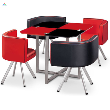 Vogue Gl Cafe Dinner Table Chairs Sets Bistro Dining And Whole Chair Set For Home Or