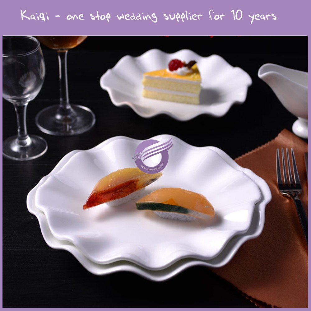 KB161 wedding decorative unique shaped ceramic plates for restaurant