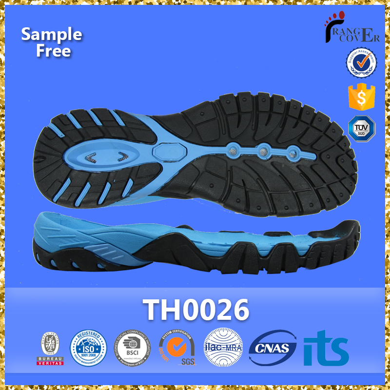 China Sole Factory Road Trekking Shoe Use Rubber Sheet Shoe Sole
