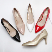 Chinese women 5 inch high pumps mid heel shoes for women