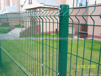 Green Vinyl Coated Welded Wire Mesh Fence / Square Wire Mesh Fence ...
