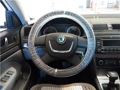 fashional wood grain steering wheel covers Eastic on both side