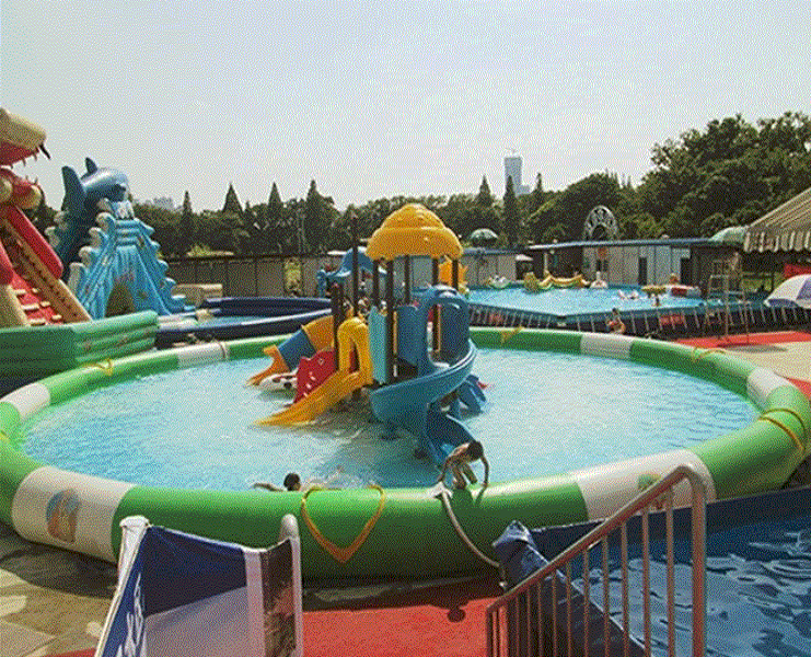 2019 high quality durable inflatable swimming pool water park toys equipment