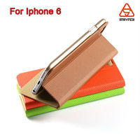 Customized color wholesale cell mobile phone case for iphone 6, 2015 NEW products wallet case for iphone 6 plus leather cover