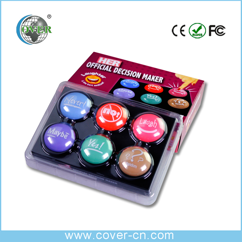 colorful design Sound talking button USB sound button for children's speaking learning